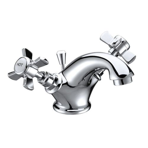 Eden Chrome Basin Mono Mixer & Slotted Sprung Basin Waste